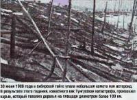 30 июня 1908 года в сибирской тайге упала небольшая комета или астероид