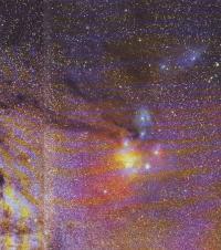 Цветная фотография области ρ Змееносца
