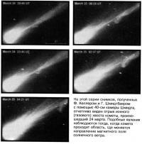 Эволюция хвоста кометы