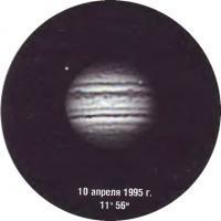 Фото Юпитера 10 апреля 1995 года