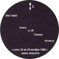 Фото Юпитера 25 октября 1998 года
