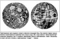 Гравитационная карта видимого (слева) и обратного полушарий Луны