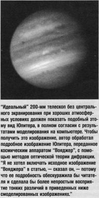Идеальный 200-мм телескоп без центрального экранирования