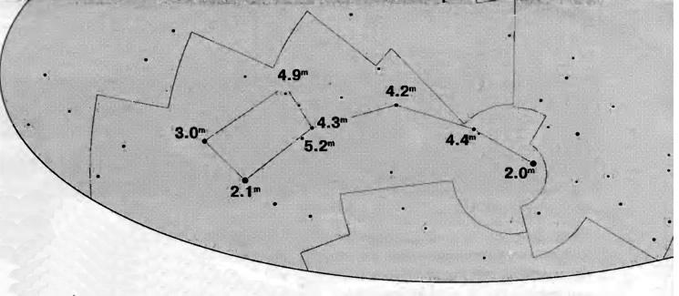 Карта видимости звезд
