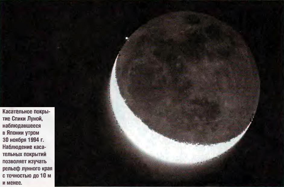 Касательное покрытие Спики Луной