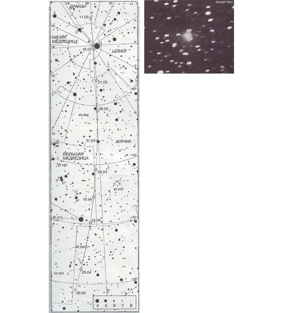 Комета LINEAR (С/1998 М5) в марте 1999 года