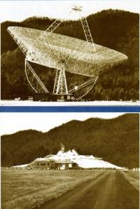 Крушение гигантского 91-метрового радиотелескопа