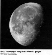 Луна. Фотография получена в главном фокусе 400-мм телескопа