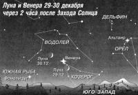 Луна и Венера 29-30 декабря