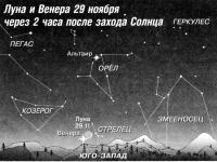 Луна и Венера 29 ноября