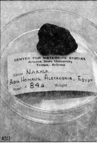 Марсианский метеорит Нахла