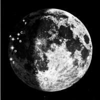 Места падений метеороидов на Луну