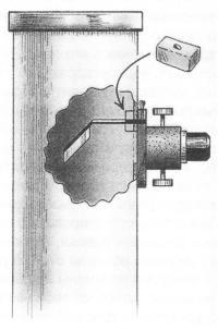Место установки ластика
