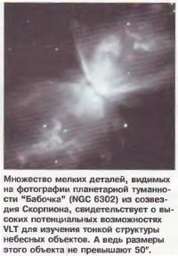 Множество мелких деталей на планетарной туманности Бабочка NGC 6302
