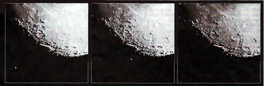 На этой серии снимков запечатлен ход покрытия Спики Луной 8 июля 1995 г.