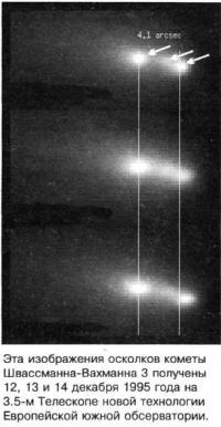 Осколки кометы Швассманна-Вахманна