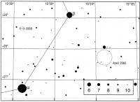 Поисковая карта для галактики NGC 5958 и скопления галактик Abell 2065