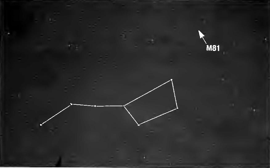 Положение галактики M81 на небе