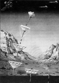 Посадка внедряемых зондов - пенетраторов