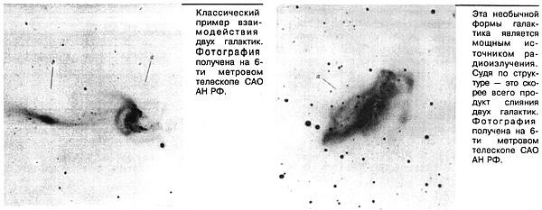 Пример взаимодействия двух галактик