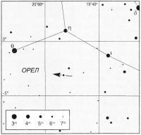 Путь астероида Этра (132)