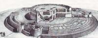 Реконструкция Кой-Крылган-Калы выполненная советскими археололгами