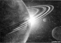 Рисунок экзопланеты типа Сатурна