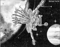 Рисунок Галилео на фоне Юпитера