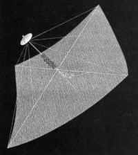 Рисунок паруса в космосе