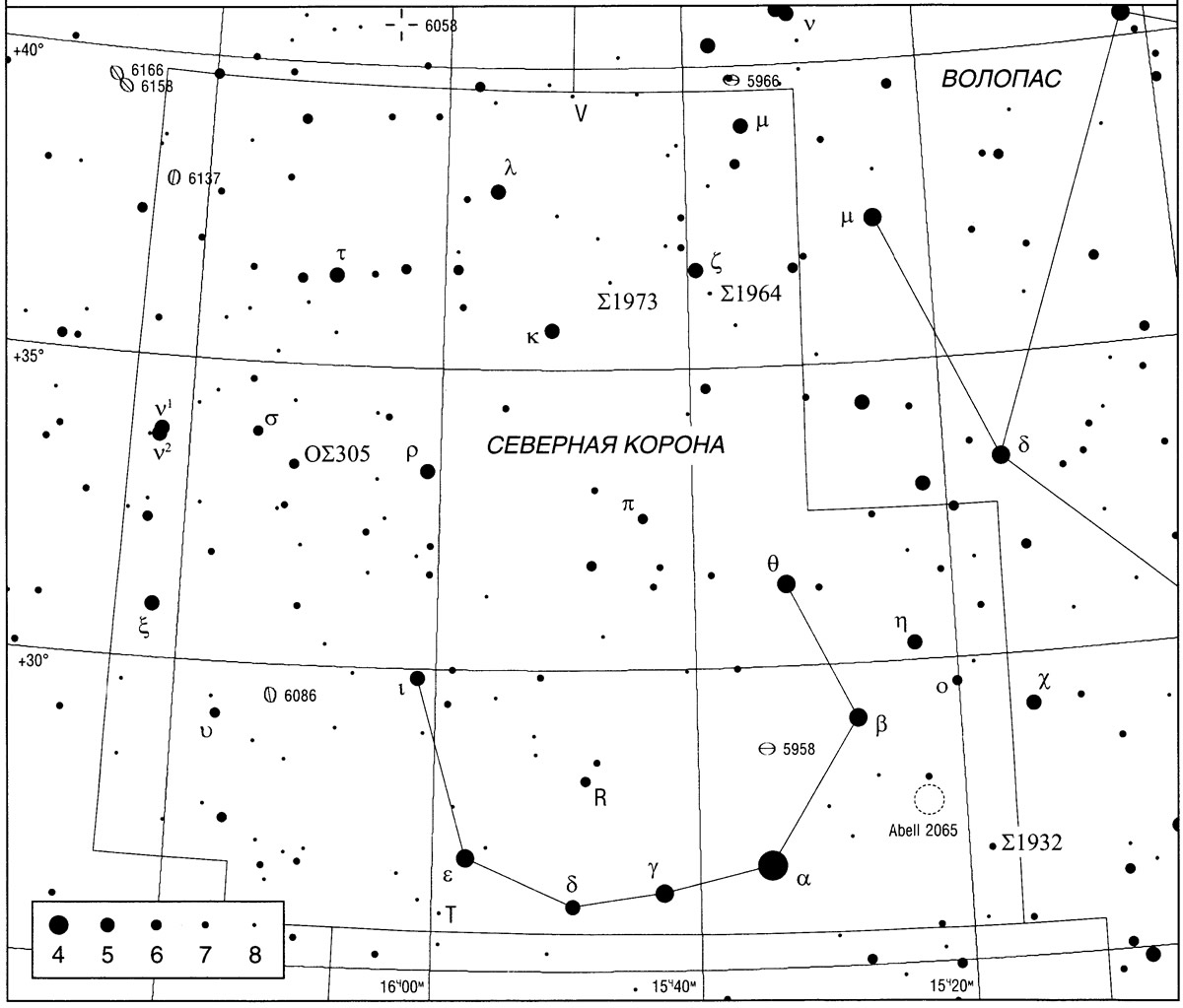 созвездия корона картинка северная