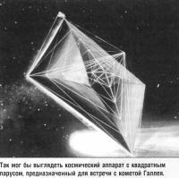 Так мог бы выглядеть космический аппарат с квадратным парусом