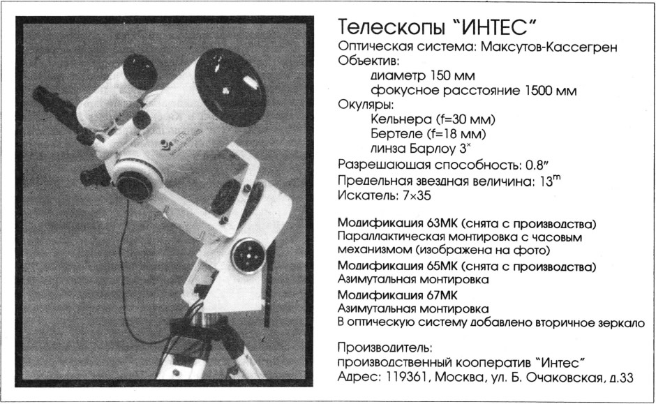 Телескоп ИНТЕС