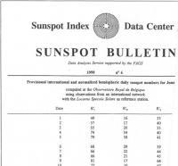 Титульный лист солнечного бюллетеня программы SIDC