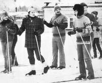Участники конференции осваивают уральскую лыжню