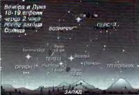 Венера и Луна 18-19 апреля