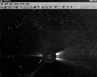 Вид из солнечной обсерватории SOHO
