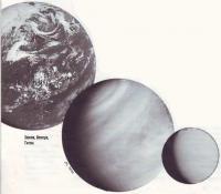 Земля, Венера и Титан