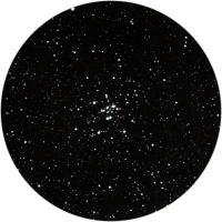 Звездное скопление М34 в созвездии Персея